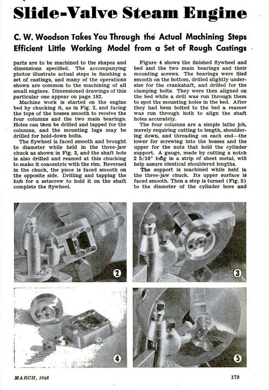 Figure 2-0 Vertical Slide-Valve Steam Engine from Popular Science Monthly, May 1946, p. 179