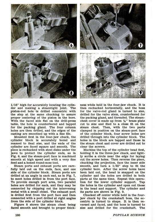 Figure 3-0 Vertical Slide-Valve Steam Engine from Popular Science Monthly, May 1946, p. 180