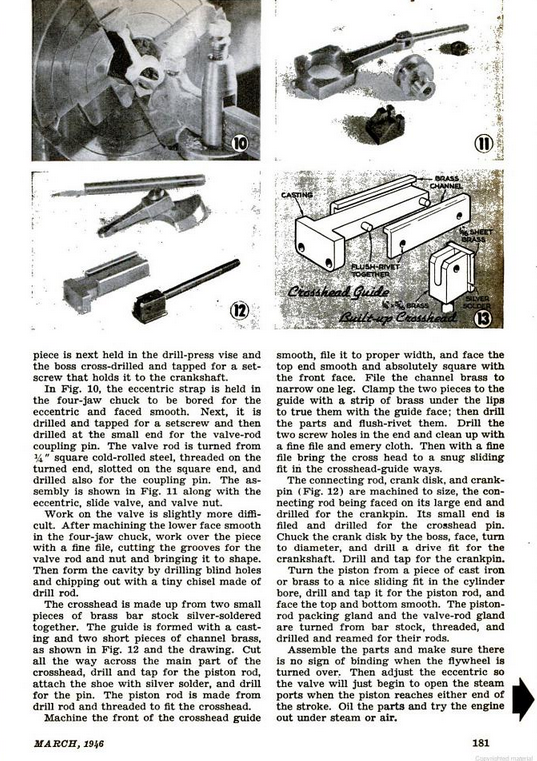 Figure 4-0 Vertical Slide-Valve Steam Engine from Popular Science Monthly, May 1946, p. 181
