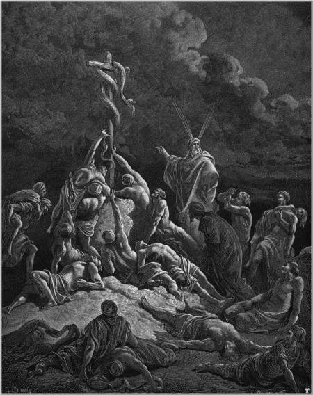 Figure 1-0 Moses and the Brazen Serpent by Gustave Dore