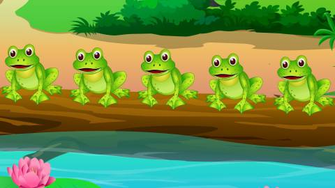 Figure 1-0 5 Frogs Sitting on a Log