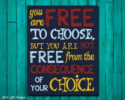 Figure 1-0 Free Choice Not Free Consequence
