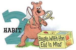 Figure 1-0 Habit 2 - Begin with the end in mind by Stephen Covey